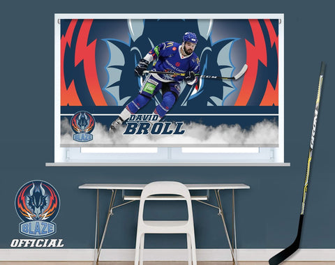 Official Coventry Blaze David Broll Player Image Printed Photo Roller Blind - RB901 - Art Fever - Art Fever