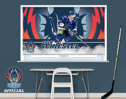Official Coventry Blaze Drew Schiestel Player Image Printed Photo Roller Blind - RB903 - Art Fever - Art Fever