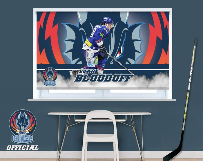 Official Coventry Blaze Evan Bloodoff Player Image Printed Photo Roller Blind - RB905 - Art Fever - Art Fever