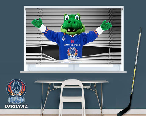Official Coventry Blaze Peeking Scorch Design Image Printed Photo Roller Blind - RB910 - Art Fever - Art Fever