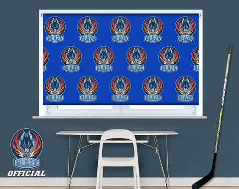 Official Coventry Blaze Repeat Crest Design Image Printed Photo Roller Blind - RB908 - Art Fever - Art Fever