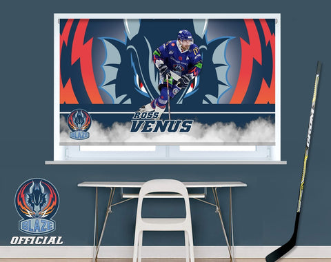 Official Coventry Blaze Ross Venus Player Image Printed Photo Roller Blind - RB914 - Art Fever - Art Fever