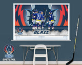 Official Coventry Blaze Team Celebration Printed Photo Roller Blind - RB916 - Art Fever - Art Fever