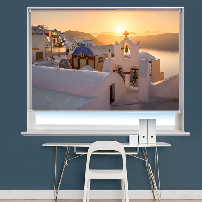 Oia Village In The Morning, Santorini, Greece Printed Photo Picture Roller Blind - RB725 - Art Fever - Art Fever