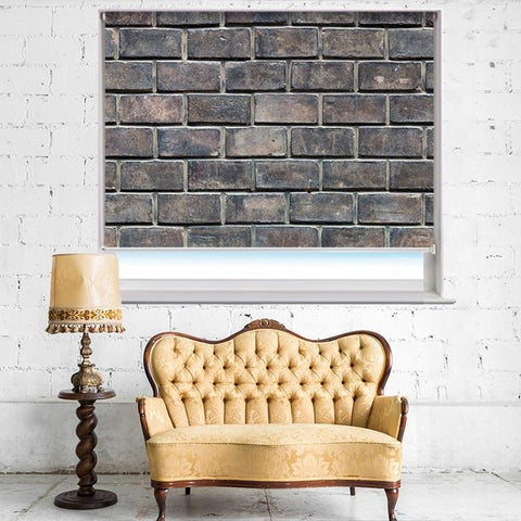 Old Brick Effect Printed Photo Picture Roller Blind - RB402 - Art Fever - Art Fever