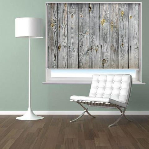 Old Knotted Wooden Plank Effect Printed Photo Picture Roller Blind - RB391 - Art Fever - Art Fever