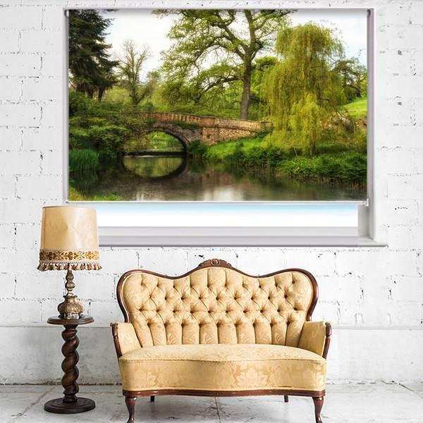 Old Medieval Bridge over the River Printed Picture Photo Roller Blind - RB426 - Art Fever - Art Fever