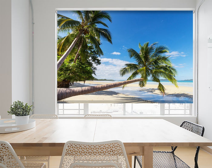 Palm Tree Beach Tropical Printed Photo Picture Roller Blind - RB328 - Art Fever - Art Fever