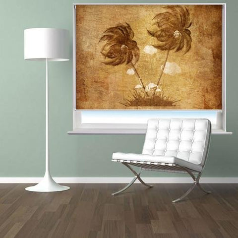 Palm tree tropical vintage effect Printed Picture Photo Roller Blind - RB169 - Art Fever - Art Fever