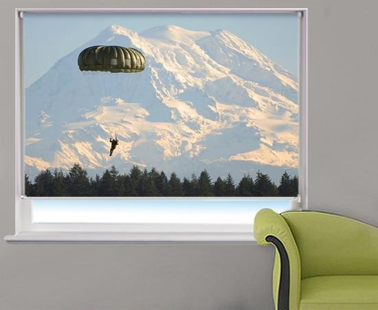 Paratrooper over Fort Lewis Printed Picture Photo Roller Blind - RB299 - Art Fever - Art Fever