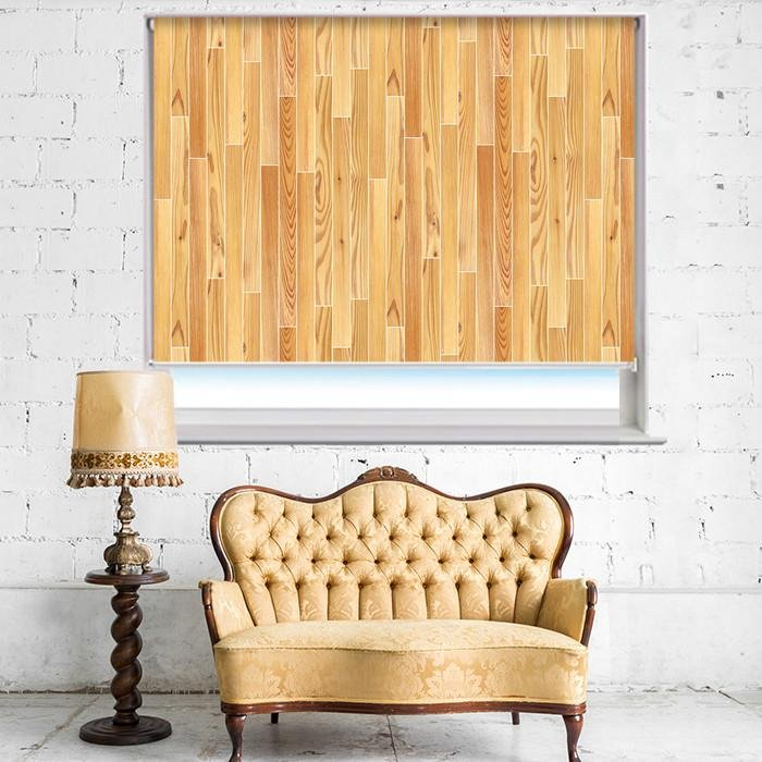 Parquet Planks Effect Printed Photo Picture Roller Blind - RB400 - Art Fever - Art Fever