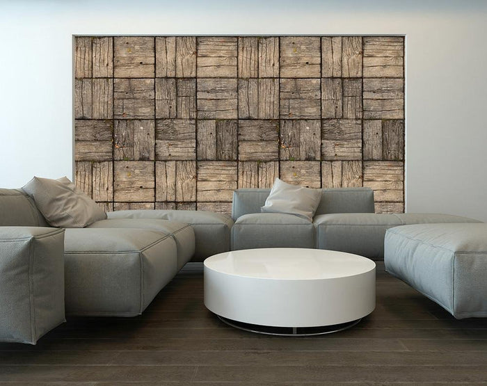Parquet Style Wooden Deck Effect | Self Adhesive Wallpaper Rolls WM645 - Art Fever - Art Fever