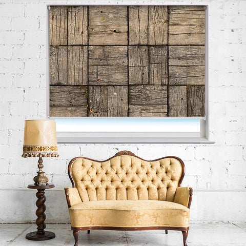 Parquet Style Wooden Deck Printed Photo Picture Roller Blind - RB393 - Art Fever - Art Fever