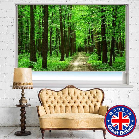 Path through the green forest Printed Picture Photo Roller Blind - RB669 - Art Fever - Art Fever