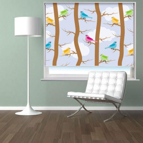 Pattern With Birds And Trees Printed Picture Photo Roller Blind - RB539 - Art Fever - Art Fever