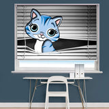 Peeking Animal Cat Image Printed Roller Blind - RB873 - Art Fever - Art Fever