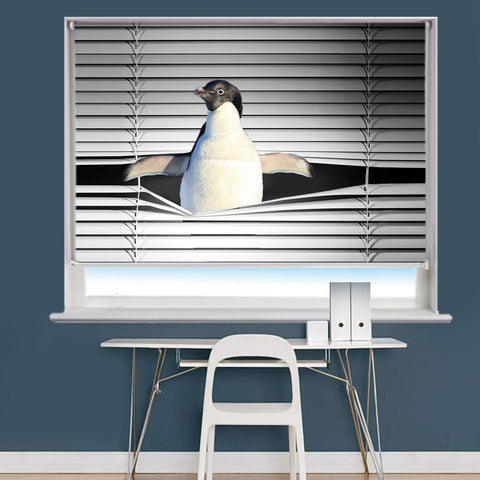 Peeking Penguin Image Printed Roller Blind - RB861 - Art Fever - Art Fever