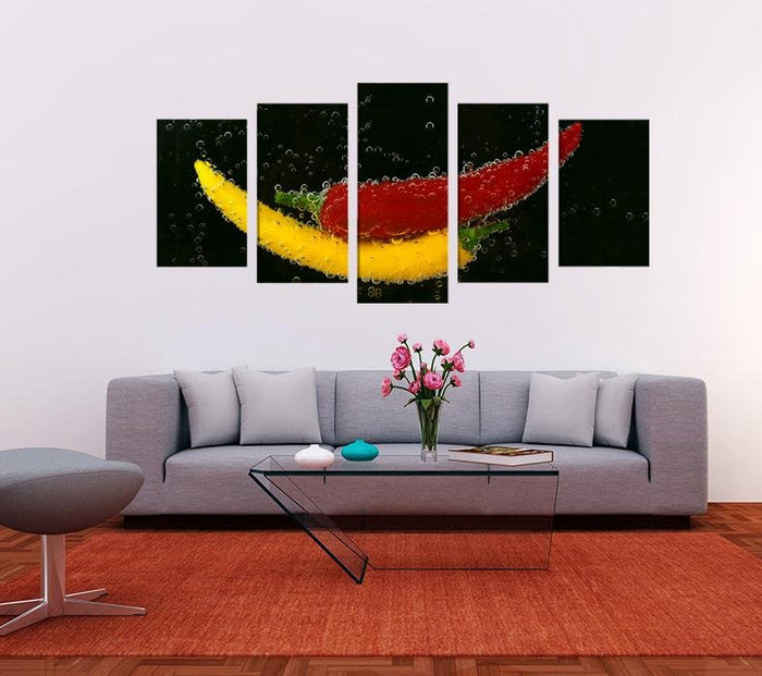 Peppers Image Multi Panel Canvas Print wall Art - MPC156 - Art Fever - Art Fever
