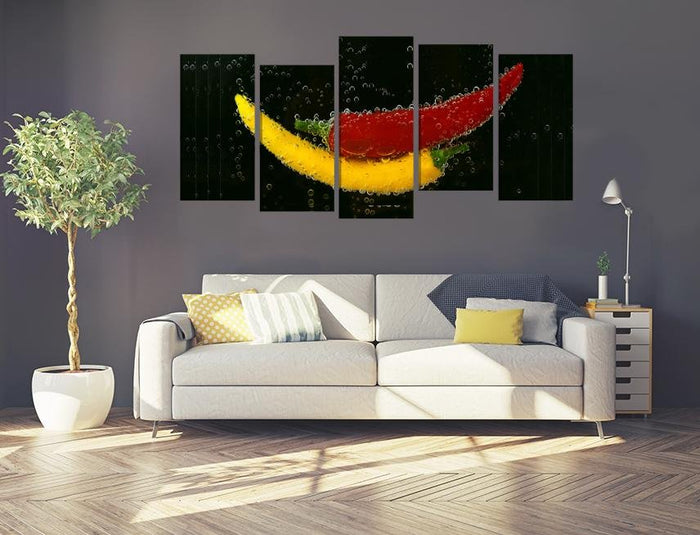 Peppers Image Multi Panel Canvas Print wall Art - MPC157 - Art Fever - Art Fever