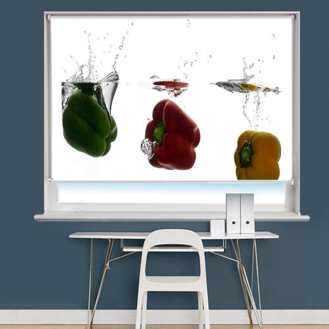 Peppers Water Splash Image Printed Roller Blind - RB855 - Art Fever - Art Fever