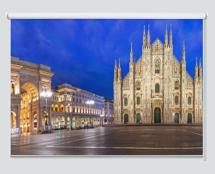 Piazza Del Duomo In Milan Italy Printed Picture Photo Roller Blind - RB1000 - Art Fever - Art Fever