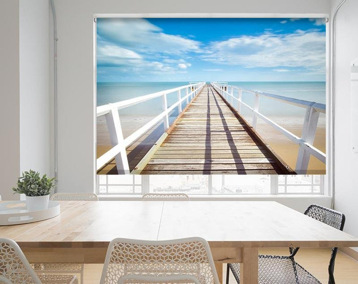 Pier out to Sea Printed Picture Photo Roller Blind - RB576 - Art Fever - Art Fever