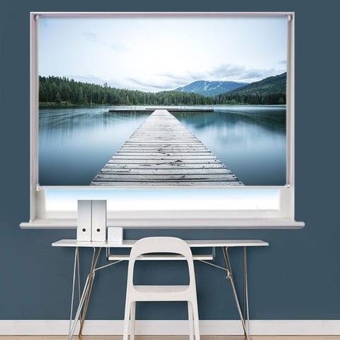 Pier Trees Mountain Printed Picture Roller Blind - RB773 - Art Fever - Art Fever