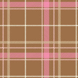 Pink Brown Tartan Plaid Pattern Printed Picture Photo Roller Blind - RB611 - Art Fever - Art Fever