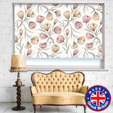 Pink Floral Repeat Design Printed Picture Photo Roller Blind - RB523 - Art Fever - Art Fever