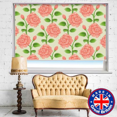 Pink Peony Floral Pattern Printed Picture Photo Roller Blind - RB529 - Art Fever - Art Fever