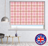 Pink Tartan Plaid Pattern Printed Picture Photo Roller Blind - RB614 - Art Fever - Art Fever
