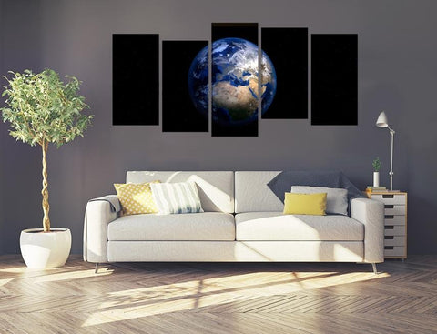 Planet Earth Image Multi Panel Canvas Print wall Art - MPC118 - Art Fever - Art Fever