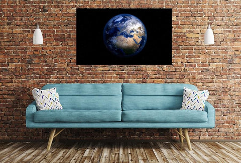 Planet Earth Image Printed Onto A Single Panel Canvas - SPC96 - Art Fever - Art Fever