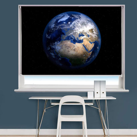 Planet Earth Image Printed Roller Blind - RB836 - Art Fever - Art Fever