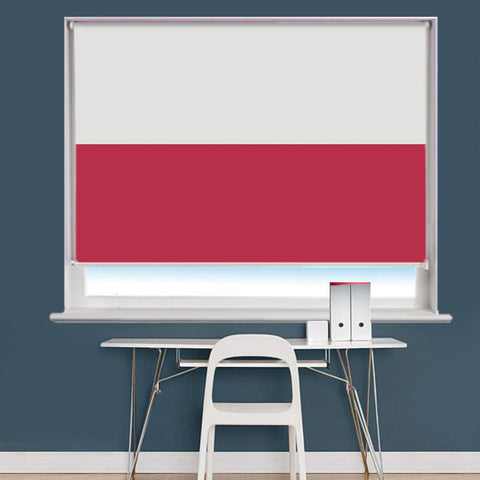 Polish Poland Flag Printed Picture Roller Blind - RB758 - Art Fever - Art Fever