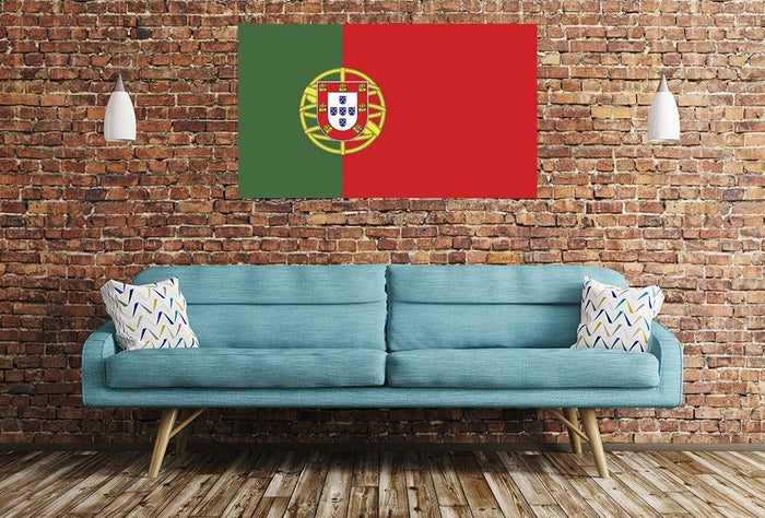 Portugal Flag Image Printed Onto A Single Panel Canvas - SPC52 - Art Fever - Art Fever