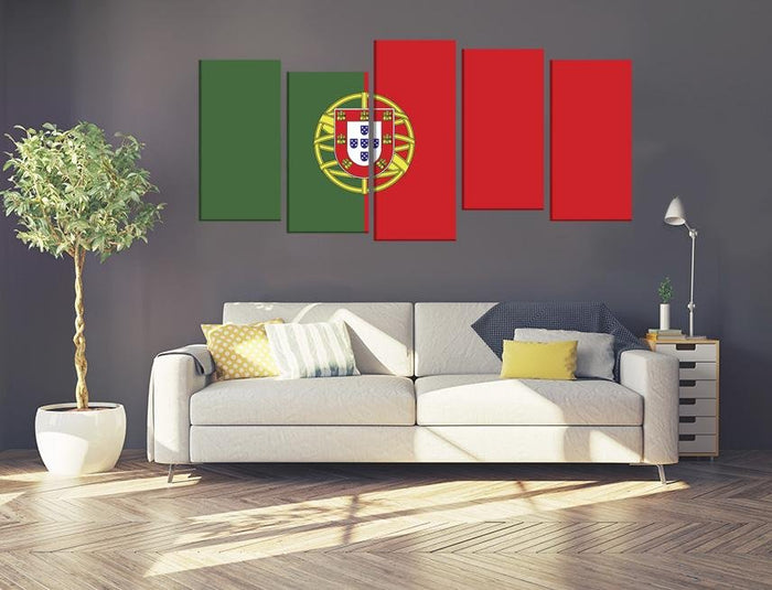 Portugal Flag Multi Panel Canvas Print wall Art - MPC47 - Art Fever - Art Fever