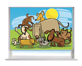 Printed Picture Photo Roller Blind Cartoon Dogs Kids Blind - RB992 - Art Fever - Art Fever