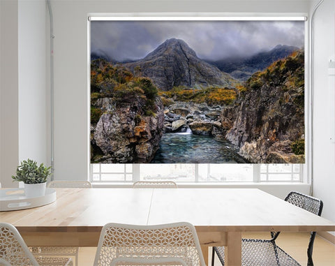 Printed Picture Photo Roller Blind Cloudy Morning In Fairy Pools, Glen Brittle, Isle Of Skye - RB10019 - Art Fever - Art Fever
