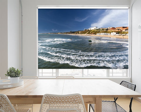 Printed Picture Photo Roller Blind Jet Skis at Bournemouth Dorset - RB1011 - Art Fever - Art Fever