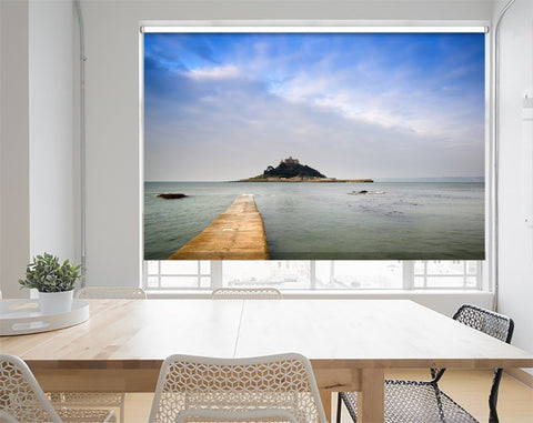 Printed Picture Photo Roller Blind St Michaels Mount Bay At High Tide Cornwall - RB1022 - Art Fever - Art Fever