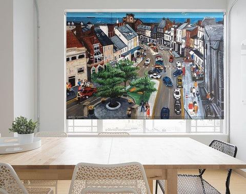 Quirky Tynemouth by Pam Morton Printed Picture Photo Roller Blind - RB866 - Art Fever - Art Fever