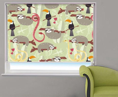 Rain Forest Animals Kids Printed Picture Photo Roller Blind - RB535 - Art Fever - Art Fever