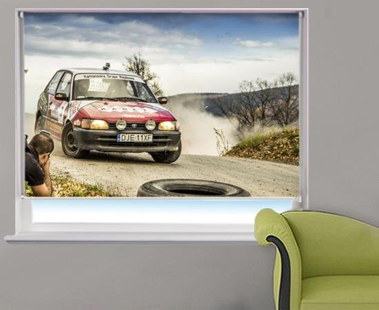 Rally Car Printed Picture Photo Roller Blind - RB304 - Art Fever - Art Fever