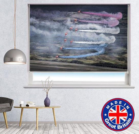 Red Arrows Jets Air Show Printed Picture Photo Roller Blind - RB665 - Art Fever - Art Fever