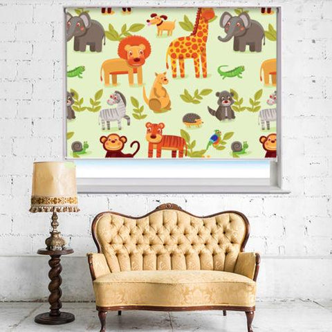 Repeat Jungle Animals Printed Picture Photo Roller Blind - RB533 - Art Fever - Art Fever