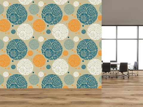 Retro Floral Pattern Self Adhesive Wallpaper - WM635 - Art Fever - Art Fever
