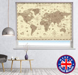 Retro Style Fantasy Map of the World Printed Picture Photo Roller Blind - RB783 - Art Fever - Art Fever