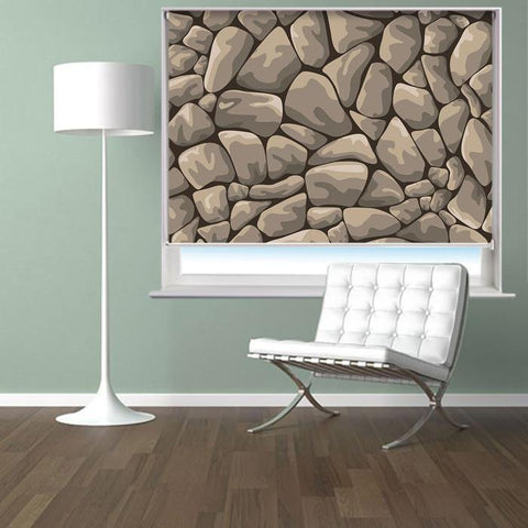 Rock Stone Design Printed Photo Picture Roller Blind - RB403 - Art Fever - Art Fever
