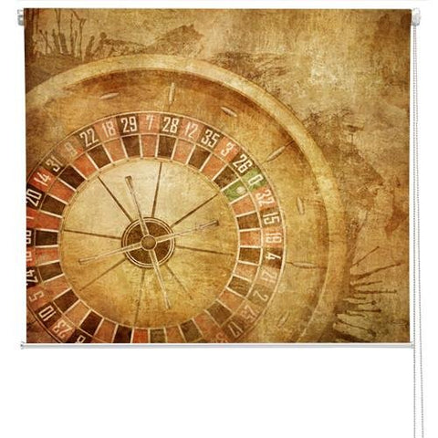 Roulette table vintage effect Printed Picture Photo Roller Blind - RB168 - Art Fever - Art Fever